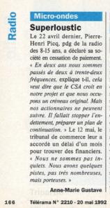 Télérama - 20 mai 1992