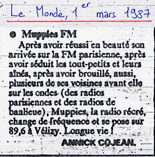 Muppies FM - Le Monde