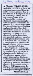 Le Monde - 15 février 1987